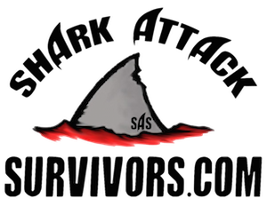 Shark Attack Survivors logo for shark attack survivors